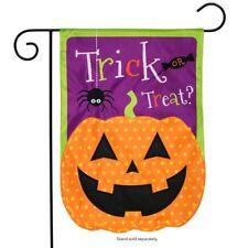 "Jack O Lantern Halloween Applique Garden Flag Holiday 12.5"" x 18"" Briarwood Lane"