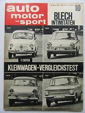Auto Motor Sport 10/1963, Kleinwagen - Vergleichstest