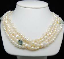 "MP""Lovely Charming white baroque pearl necklaces 18""Long-3 rows"