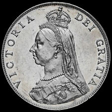 More details for 1887 queen victoria jubilee head silver florin, a/unc