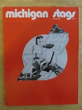WHA MICHIGAN STAGS vs INDIANAPOLIS RACERS 11-10-74 Program