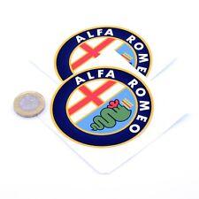 Alfa Romeo Badge Decal Vinyle Stickers Voiture 75 mm x2 Race Racing Rally Autocollant Bombe