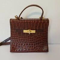 Italian Brown Leather Crossbody Purse