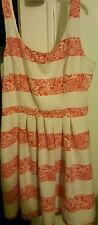 Beautiful Red/White Striped Charlotte russe dress XL