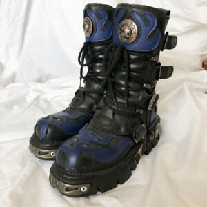 New Rock Spain Leather Goth Hardware Boots sz38/8
