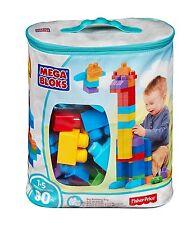 Mega First Builders Building Bag Big 80 Piece Classic Toy Blocks Kids