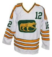 Any Name Number Size Chicago Cougars Retro Custom Hockey Jersey White Stapleton