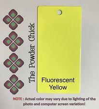 Single Coat Fluorescent Neon Yellow 059/20043 Powder Coating Paint 1lb Bag NEW