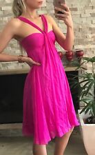 ⭐️ Women's FOREVER NEW Brand Size 8 Silk Pink Party Evening Dress EUC ⭐️