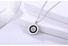 collier en argent 925  bijoux en argent sterling pour femme gravé forever love