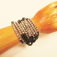 6 PC Handmade Beaded Stretch Elastic Bracelet WHOLESALE LOT 6 Colors