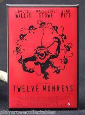 """12 Monkeys Movie Poster 2"""" X 3"""" Fridge / Locker Magnet."""