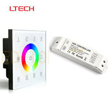 LTECH DX8 Touch Panel DMX512 4 Zone RGBW Controller 100-240V & R4-5A Receiver