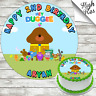 HEY DUGGEE EDIBLE ROUND BIRTHDAY CAKE TOPPER DECORATION PERSONALISED