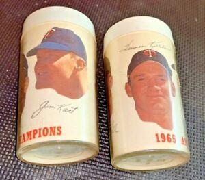 MINNESOTA TWINS 1965 AMERICAN LEAGUE CHAMPIONS CUPS GLASSES KILLEBREW KAAT GRANT