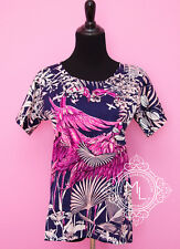 NEW HERMES 40%OFF PINK FLAMINGO PARTY T-SHIRT 34 36 BLOUSE SHIRT POLO TOP XS S