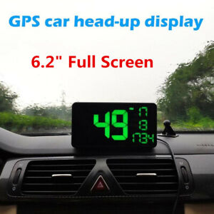 "Car Dashboard Speedometer 6.2"" Full Screen Display Speeding Warning Alarm System"
