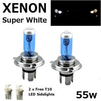 H4 60/55w SUPERWHITE XENON (472) DIPPED/FULL BEAM UPGRADE Headlight Bulbs 12v H