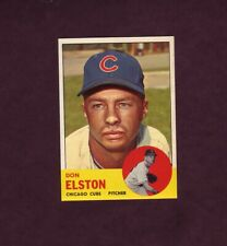 1963 Topps Baseball Card #515 Don Elston Chicago Cubs High Number # NM Or Better