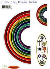 """Rainbows"" Static Cling Window Sticker"