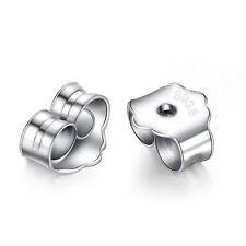Earrings 925 silver metal plug stud stoppers findings post back backs backing