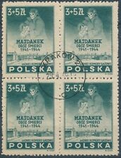 Stamp Germany Poland Sc B45 Block 1946 Post WWII Madjanek Camp Commerative CTO