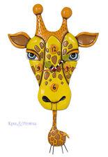 Adorable JAFFY THE GIRAFFER Designer Wall Clock by Allen Designs