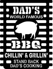 Dad's BBQ Sign Metal Art Wall Decor