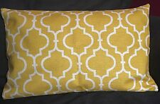 """Double-Sided Mustard Yellow Moroccan Cushion Cover 30x50cm 12x18"""" Rectangle"""
