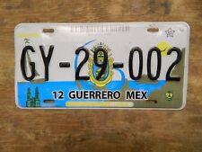 GUERRERO MEXICO LICENSE PLATE