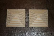 """1 Stück Holzzierteil """"Pyramide""""diverse Maße möglich für Restauration Antikmöbel"""