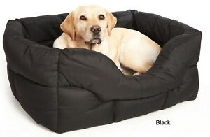 COUNTRY DOG HEAVY DUTY RECTANGULAR DROP FRONTED WATERPROOF SOFTEE DOG BEDS