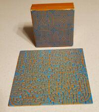 1970 David Welty DIAMETRICS mini puzzle Springbok blue orange modern art artist