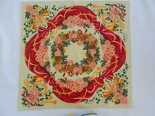 More details for ralph lauren handkerchief hanky vintage christmas wreath design printed cotton