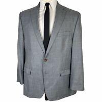 Ralph Lauren Sport Coat 46R Light Gray Blue Polyester Rayon 2 Button Blazer