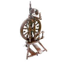 Kromski Minstrel Spinning Wheel Walnut Finish, Free Bonus with Purchase