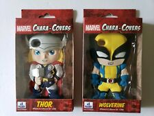 iPhone 4 4/s Marvel Chara Covers Body Figure Skin Case Thor Wolverine Lot of 2