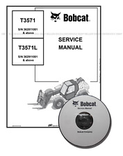 Bobcat T3571 Telescopic Handler Workshop Service Manual CD + Download 4852150