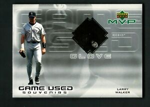Larry Walker 2000 Upper Deck MVP Game-Used Souvenirs Glove Patch SP Rockies
