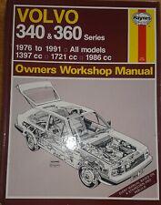 Haynes Owners Workshop Manual - Volvo 340 & 360 Series 1976 - 1989