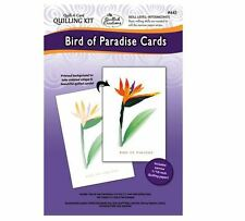 "Quilled Creations ""Quill-A-Card"" Paper Quilling Kit- BIRD OF PARADISE CARDS ~445"
