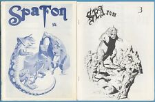 2 of SPA FON—#3 + #4—E.C. Comic Book Fanzine—FRAZETTA, WOOD, WRIGHTSON, 1967-8
