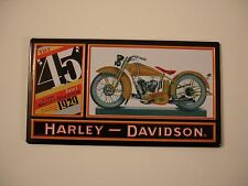 """Harley-Davidson The """"45"""" Twin Embossed Tin Ande Rooney Magnet"""
