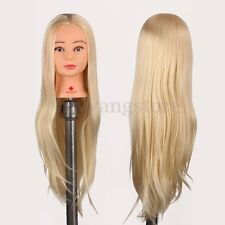 29'' Hair Salon Hairdressing Training Practice Model Mannequin Doll Head + Clamp
