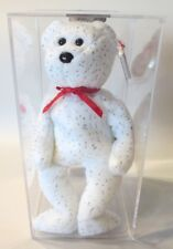 Authenticated ODDITY Ty Beanie Baby WHITE DECADE w/ NO BUTTON On His Chest MWMT!