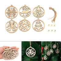 Wooden Pendants Hanging Ornaments Christmas Decorations Xmas Tree Wood Chip