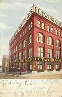 St Louis MO~Most Prominent House in Great Fur District~F C Taylor & Co~1905