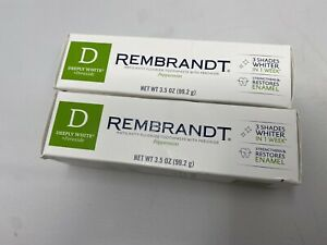 (2) Rembrandt Peppermint Toothpaste 3.5oz EXP: both 9/21