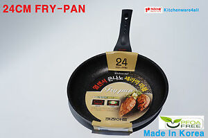 Kitchen Art Marble Stone Non Stick Silver Coated  Frying Pan WITH FREE GLASS LID