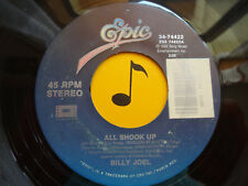 "BILLY JOEL~ All Shook Up ~ From ""Honeymoon In Vegas"" 45's record ~ VG+ or better"